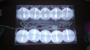 Cold White LED white Lantern String Light
