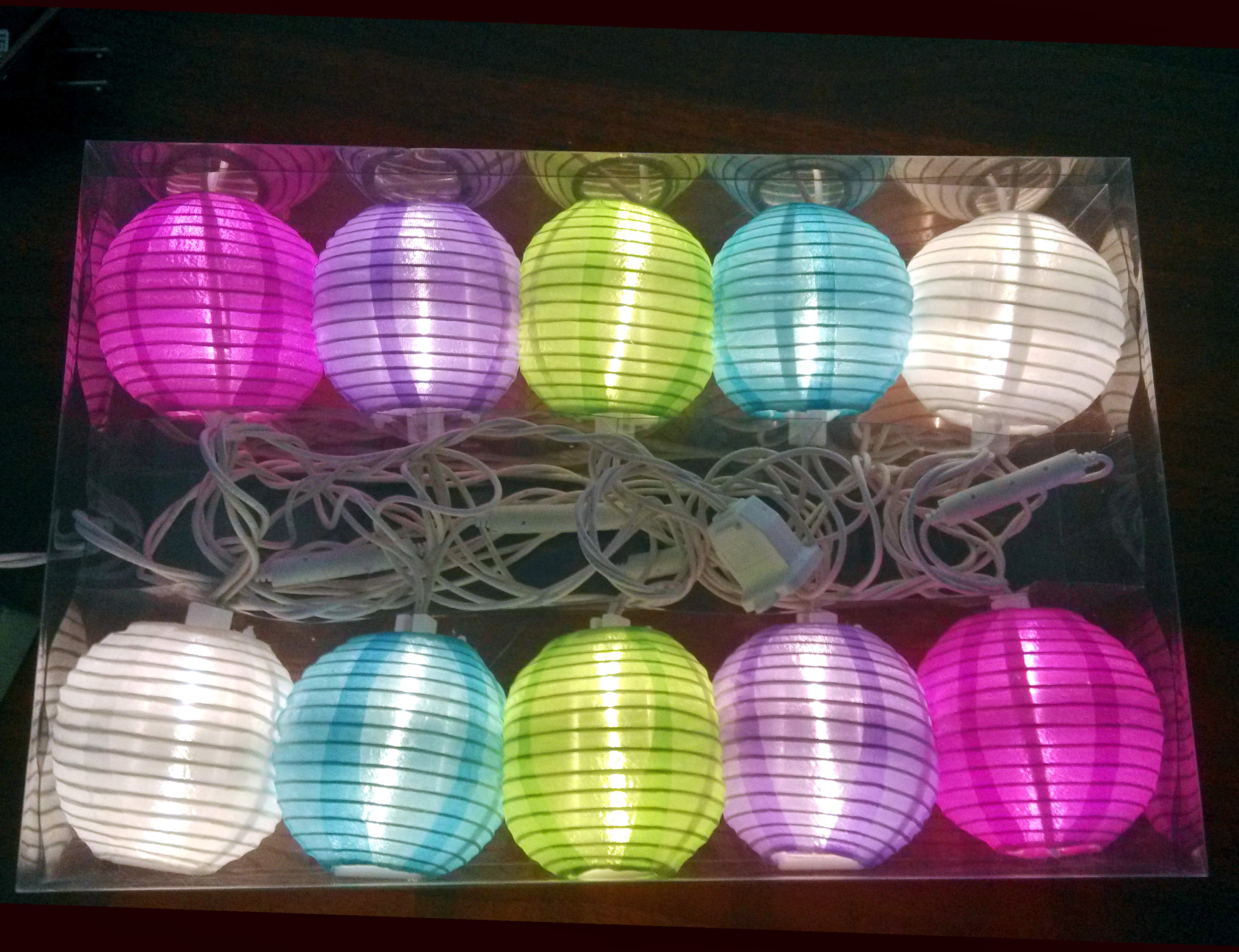 Mini paper lantern string lights - Warm White Led Multi Colored Lantern String Light2