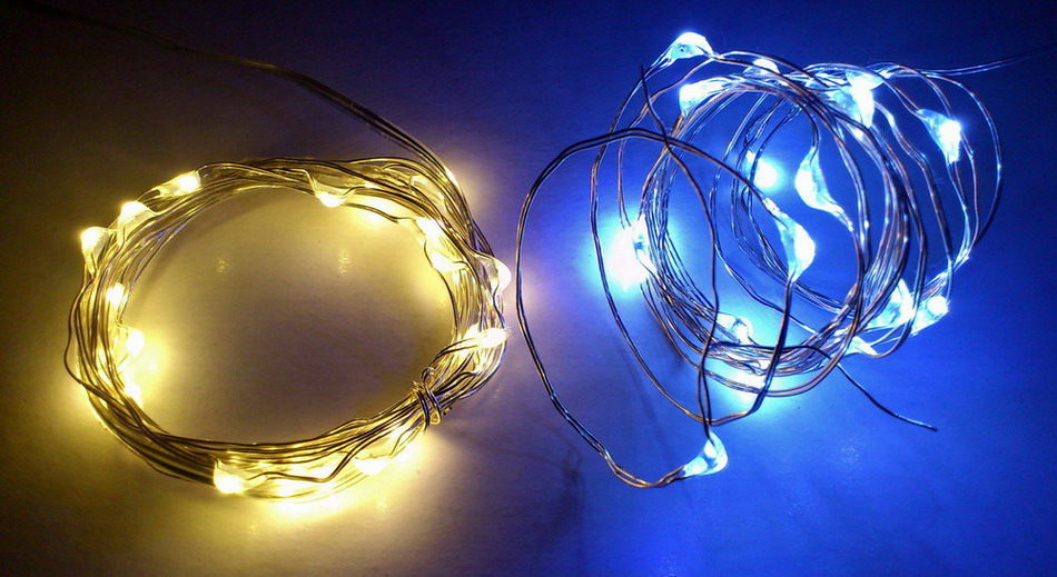 String Lights With Wire : Silver Wire String Lights Qualizzi Starry and String Lights