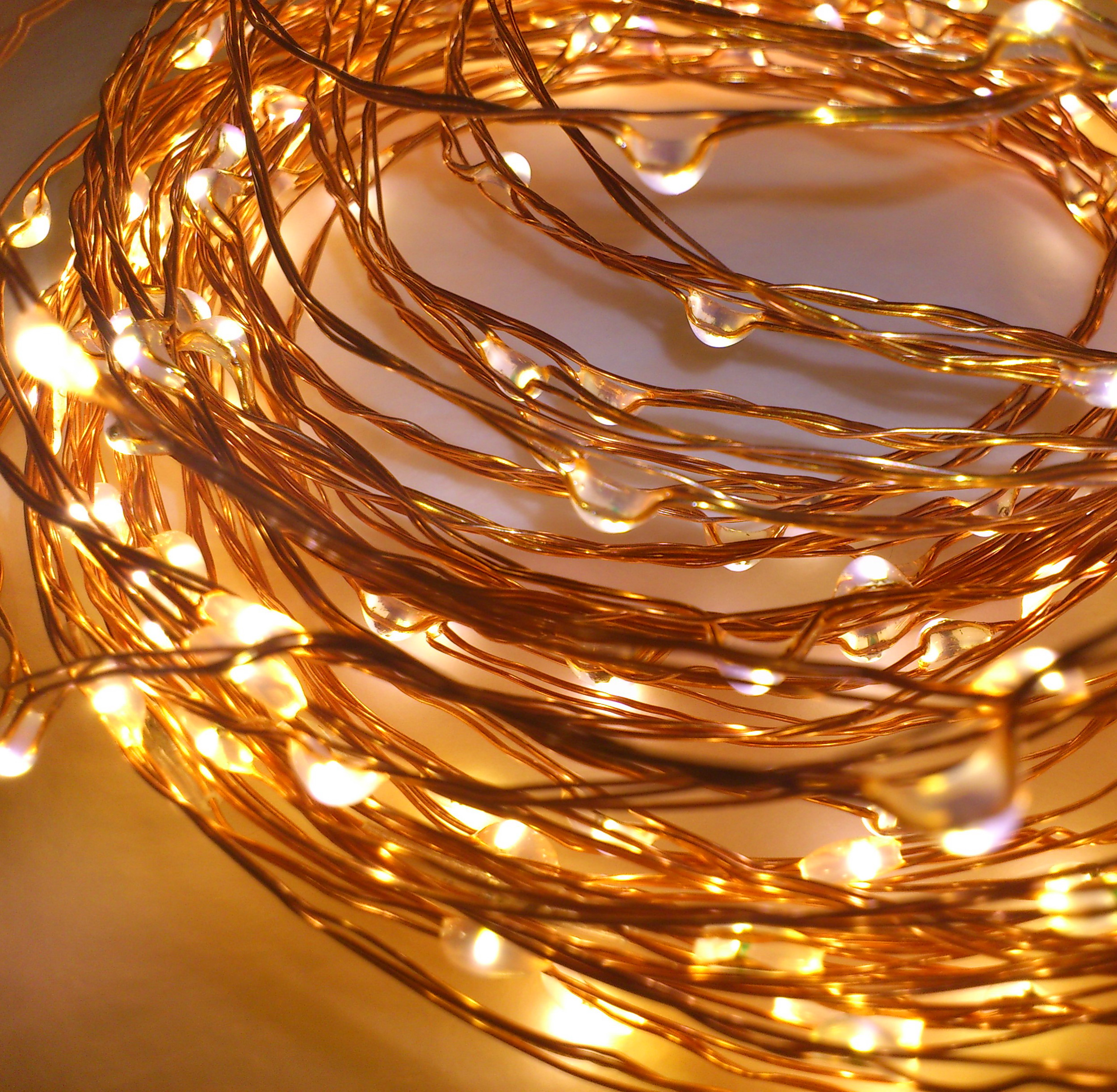 Copper String Lights Down To The Woods : Copper Wire String Lights Qualizzi Starry and String Lights